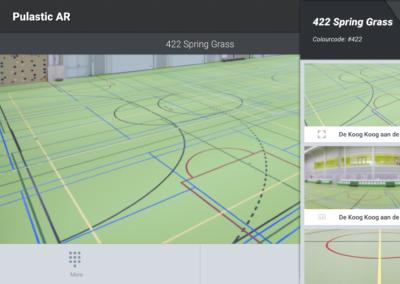 Pulastic AR App - de kleuren van sportvloeren visualiseren